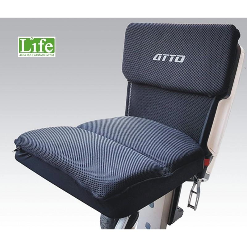 cuscino seduta scooter pieghevole ATTO LIFE ausili che ti cambiano la vita