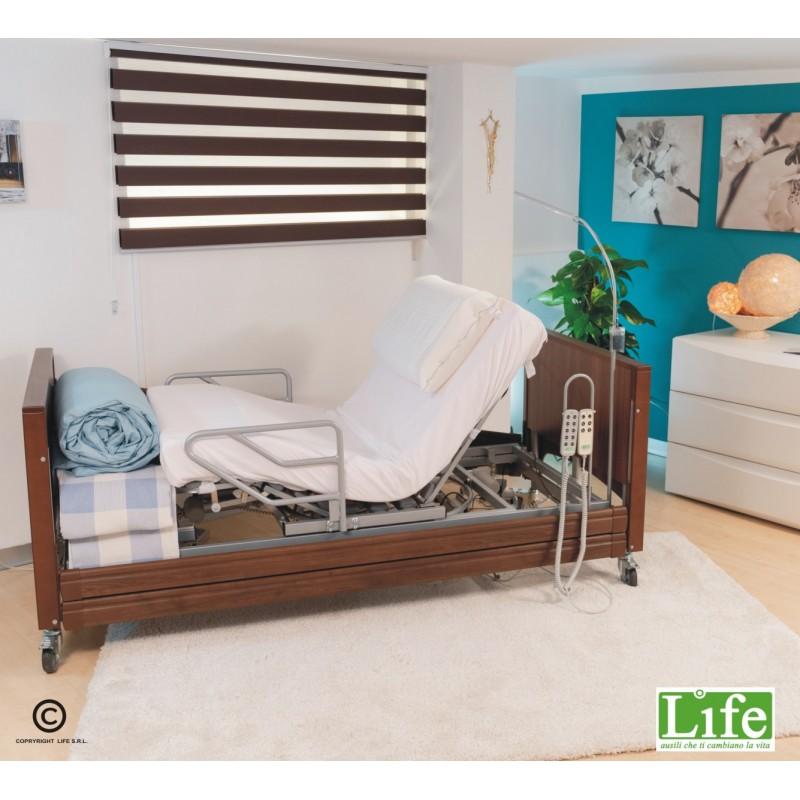 Letto Rotante per assistenza domiciliare modello Rolling Life Noce- LIFe ausili che ti cambiano la vita