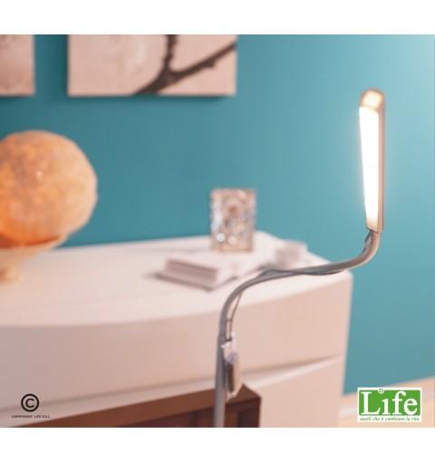 Letto girevole Rotante Rolling Life Plus Noce - Particolare della lampada notturna a led - LIFE ausili che ti cambiano la vita
