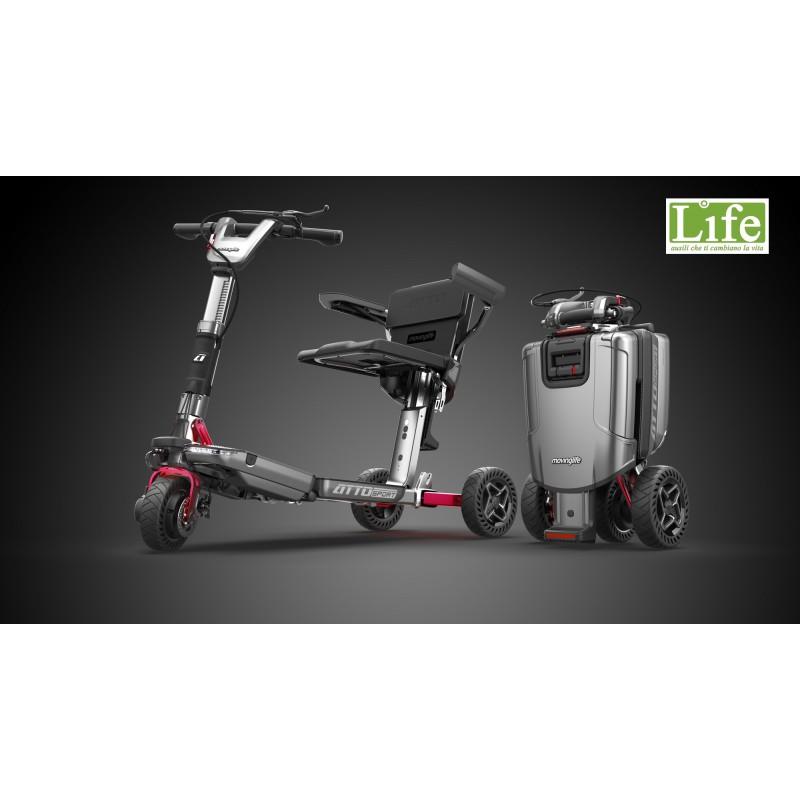 Scooter elettrico pieghevole ATTO Sport per anziani e disabili con braccioli