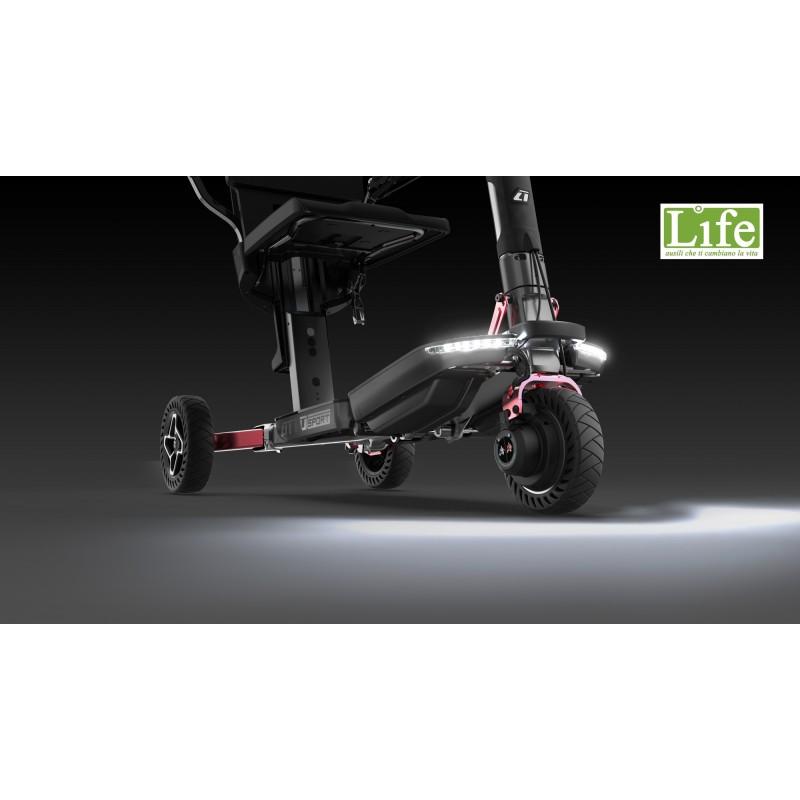 Scooter elettrico pieghevole ATTO Sport per anziani e disabili fari led