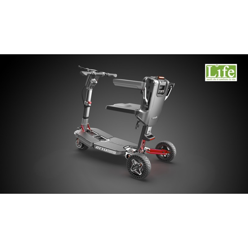 Scooter elettrico pieghevole ATTO Sport per anziani e disabili posteriore