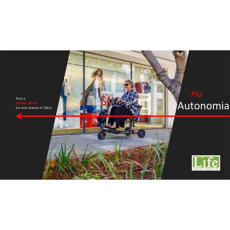 Scooter elettrico pieghevole ATTO Sport per anziani e disabili fino a 30 km di autonomia