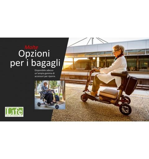 Scooter elettrico pieghevole ATTO Sport per anziani e disabili trasporto bagagli