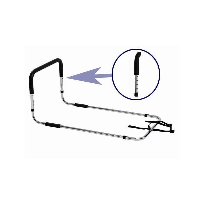 Sponda letto anticaduta, universale e con maniglia regolabile in altezza