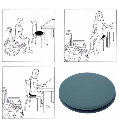 Cuscino imbottito con base girevole Roller